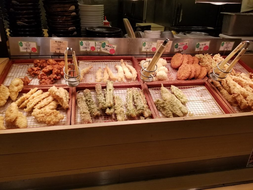 はなまるうどん天ぷらコーナー