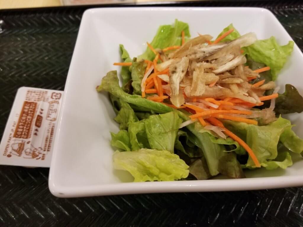 はなまるうどん野菜サラダ
