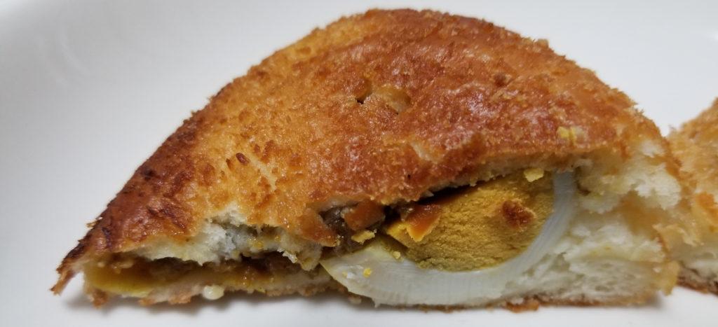 bonビッグエッグカレーパン断面2
