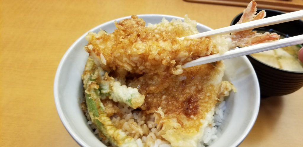 ten天丼エビの天ぷら