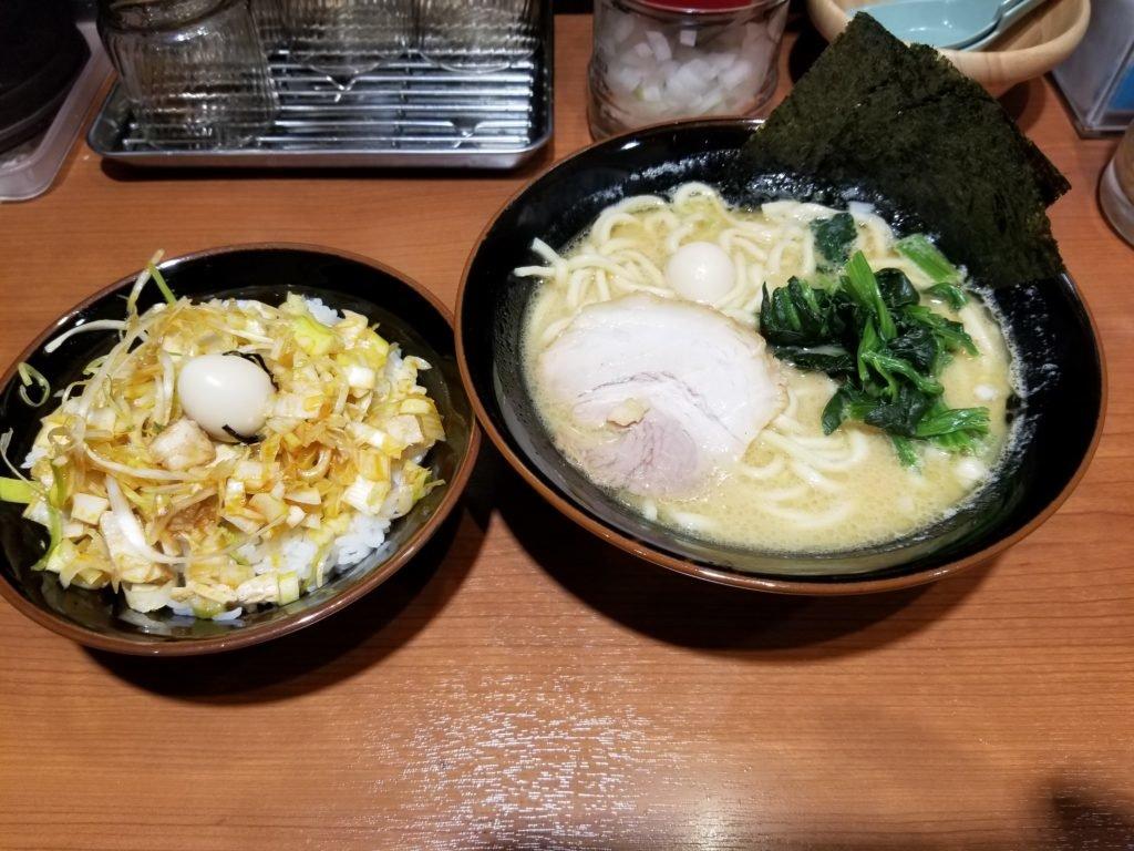 家系ラーメン並+ねぎチャ丼セット