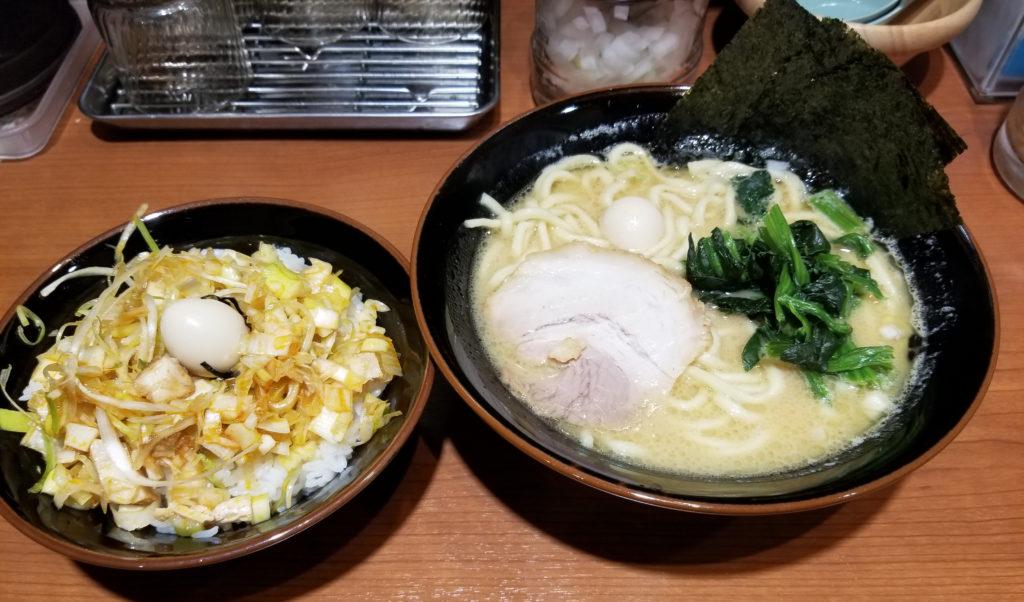 ramen横浜家系吉祥寺家家系ラーメン並+ねぎチャ丼セット