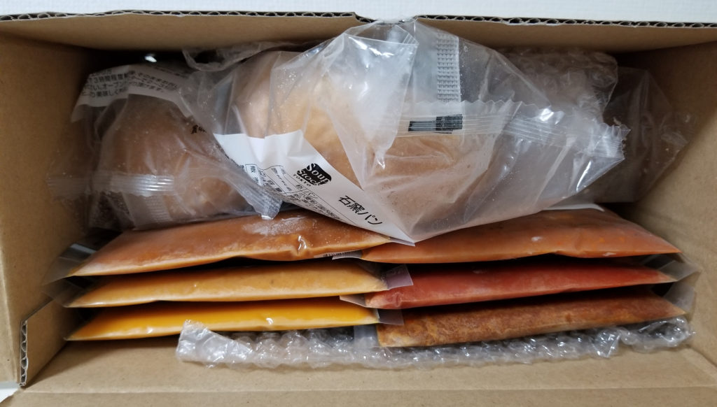 soupスープストックトーキョー通販外箱開封
