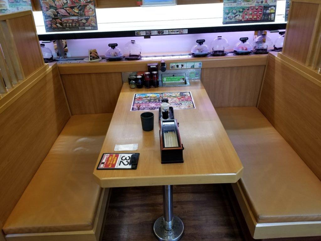 くら寿司テーブル
