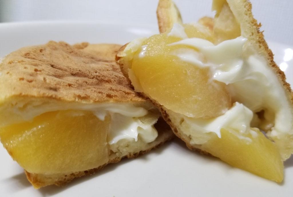 くりこアップルチーズクリーム断面