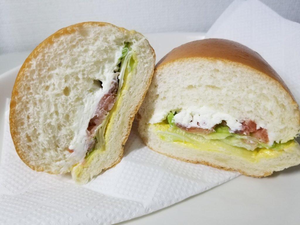 田島スモークサーモンクリームチーズ断面