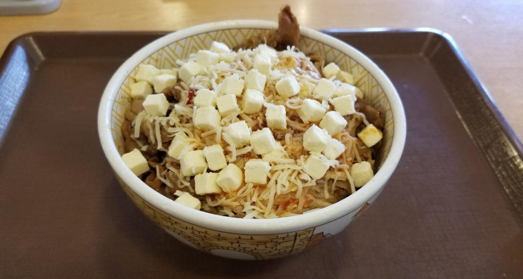 すき家クリームチーズアラビアータ牛丼紹介画像
