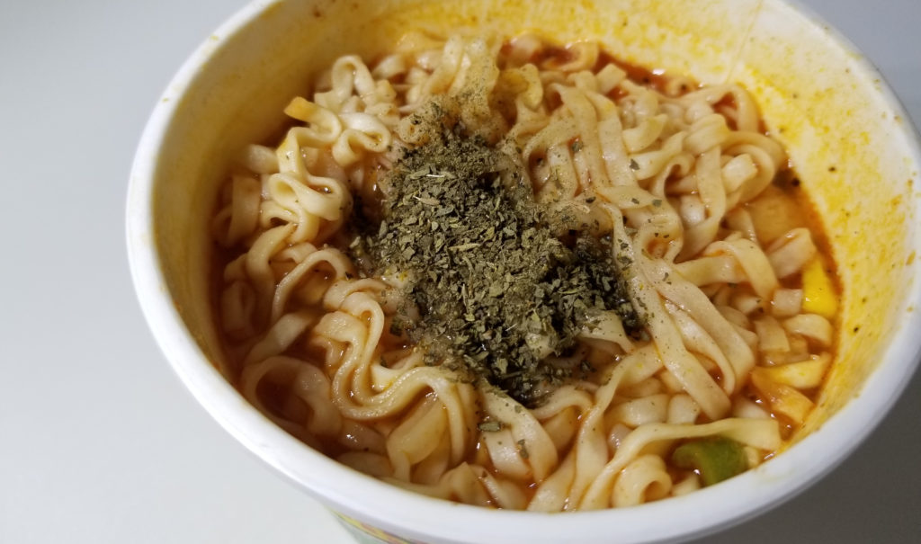 cupイタリアントマトチキン味完成2