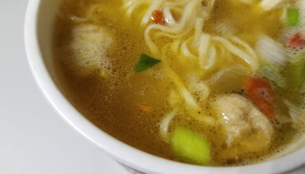 cupカップヌードルリッチすっぽんスープ味スープの感じ