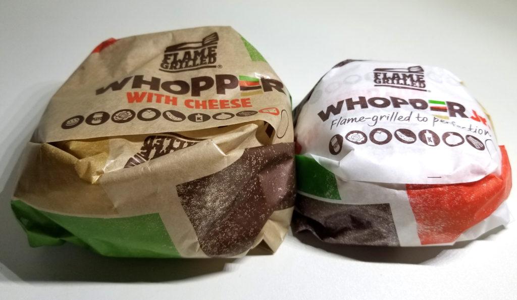 bkワッパーチーズとジュニアの比較1