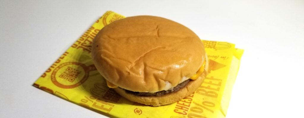 macチーズバーガー全体像
