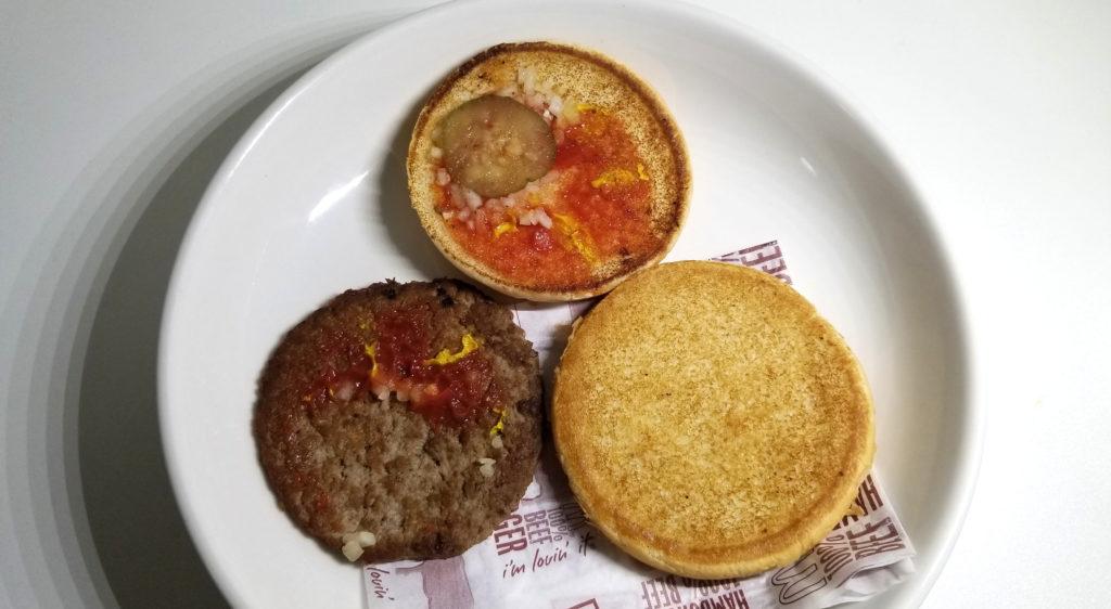 macハンバーガー分解