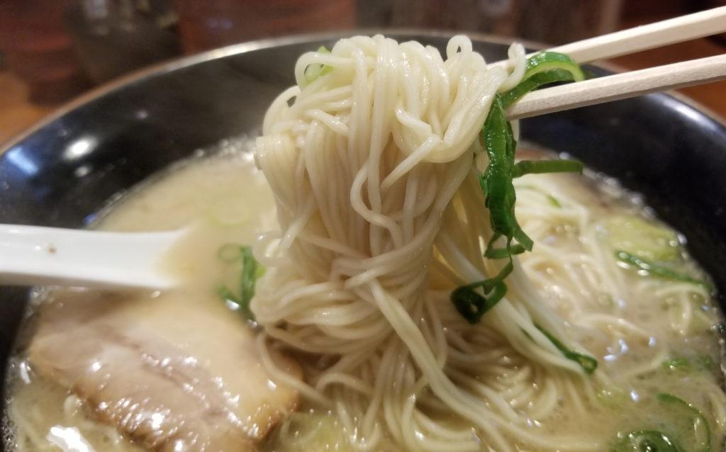 ramen九州らーめん祥祥らーめん麺の感じ